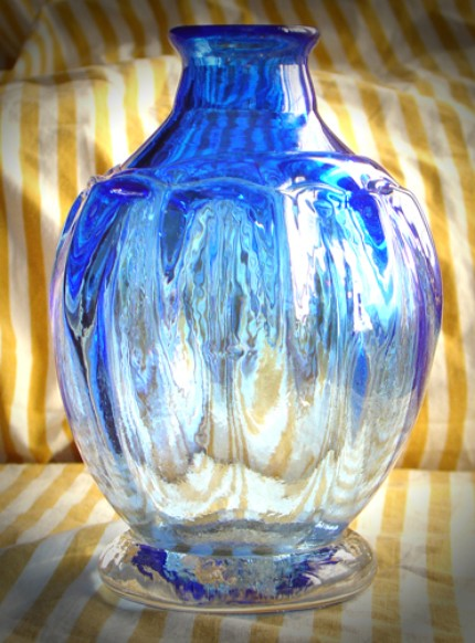 Blue Glass Vase from the Wallflower company