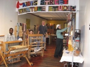 Inside Art Street Textile Studio